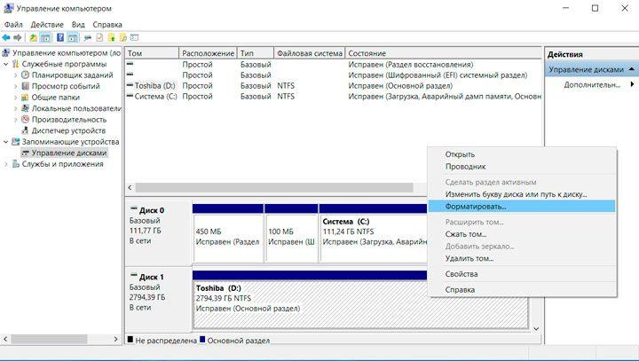 Что такое форматирование диска | настройка серверов windows и linux
