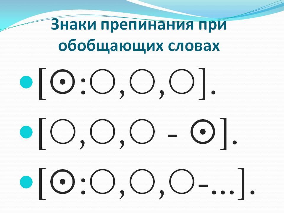 Обобщающее слово – примеры, правило (8 класс, русский язык) - помощник для школьников спринт-олимпик.ру