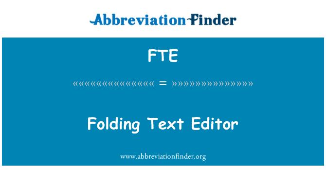Что означает fte? -определения fte | аббревиатура finder