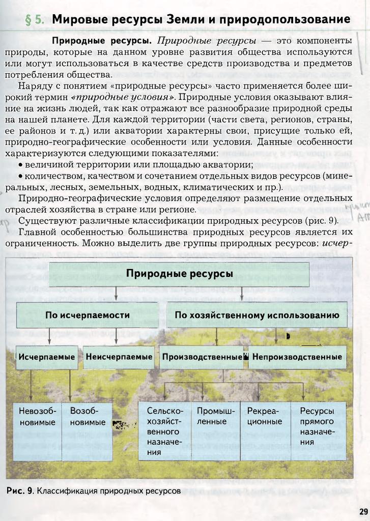 Природопользование