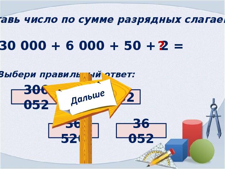 Разрядные слагаемые в математике