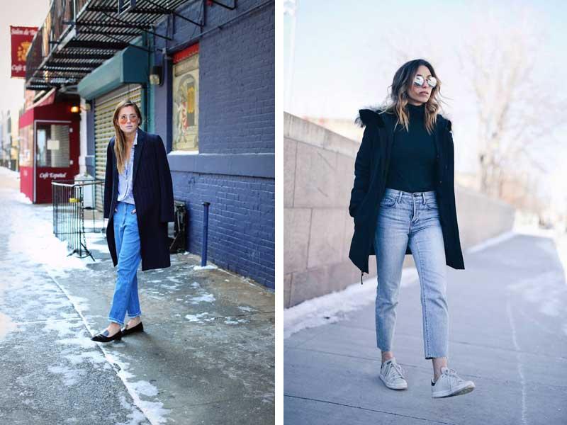 Джинсы мом: 40 модных образов, с чем носить