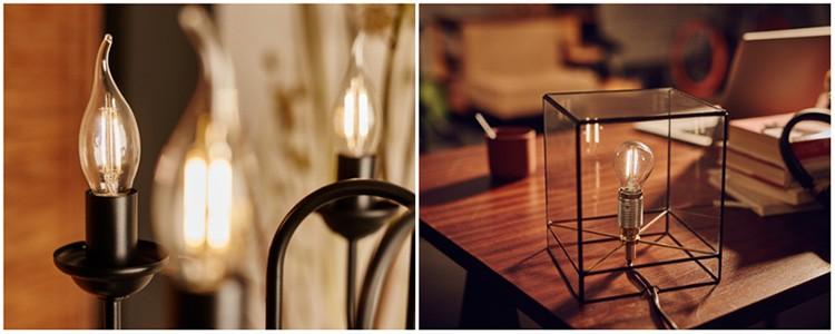 Филаментная лампа - что это такое, чем светодиодный филамент лучше других лампочек