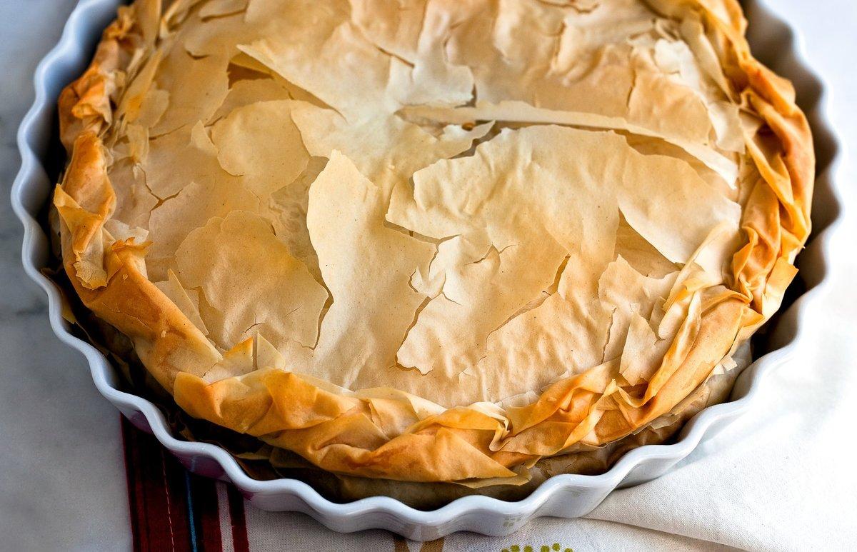 Пирог из домашнего теста фило – кулинарный рецепт