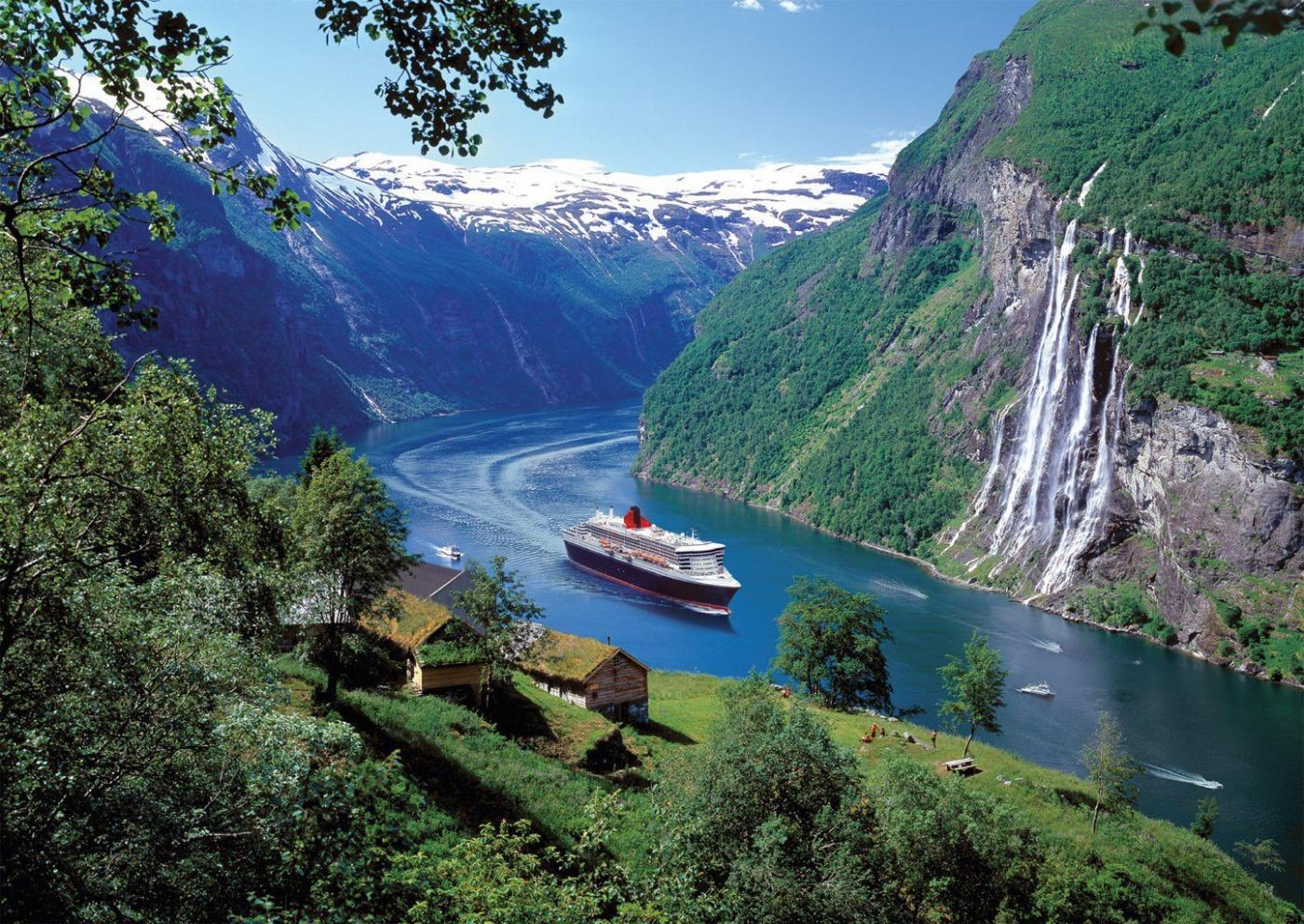 Нерёй-фьорд и аурландс-фьорд (nærøyfjord and aurlandsfjorden)