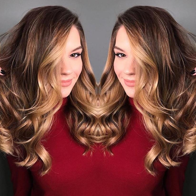 Омбре на средние волосы (56 фото): окрашивание прямых и вьющихся волос средней длины, покраска коричневых, каштановых и светлых прядей