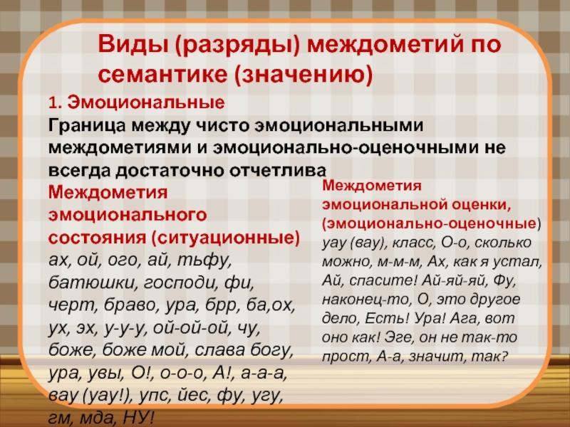 Междометия - это... в русском языке (таблица с примерами)