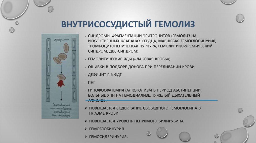 Что такое гемолиз крови