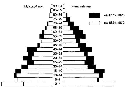 Возрастные пирамиды: виды и типы возрастных структур