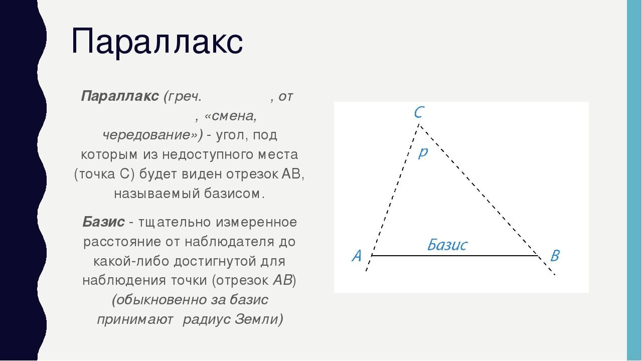 Годичный звёздный параллакс — википедия. что такое годичный звёздный параллакс