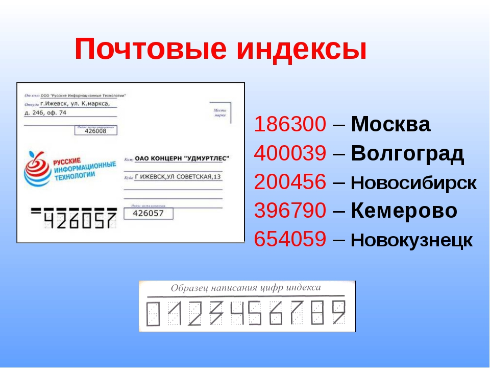 Почтовый индекс — википедия. что такое почтовый индекс