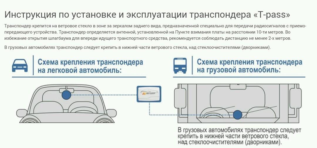 Транспондер для платных дорог: что это