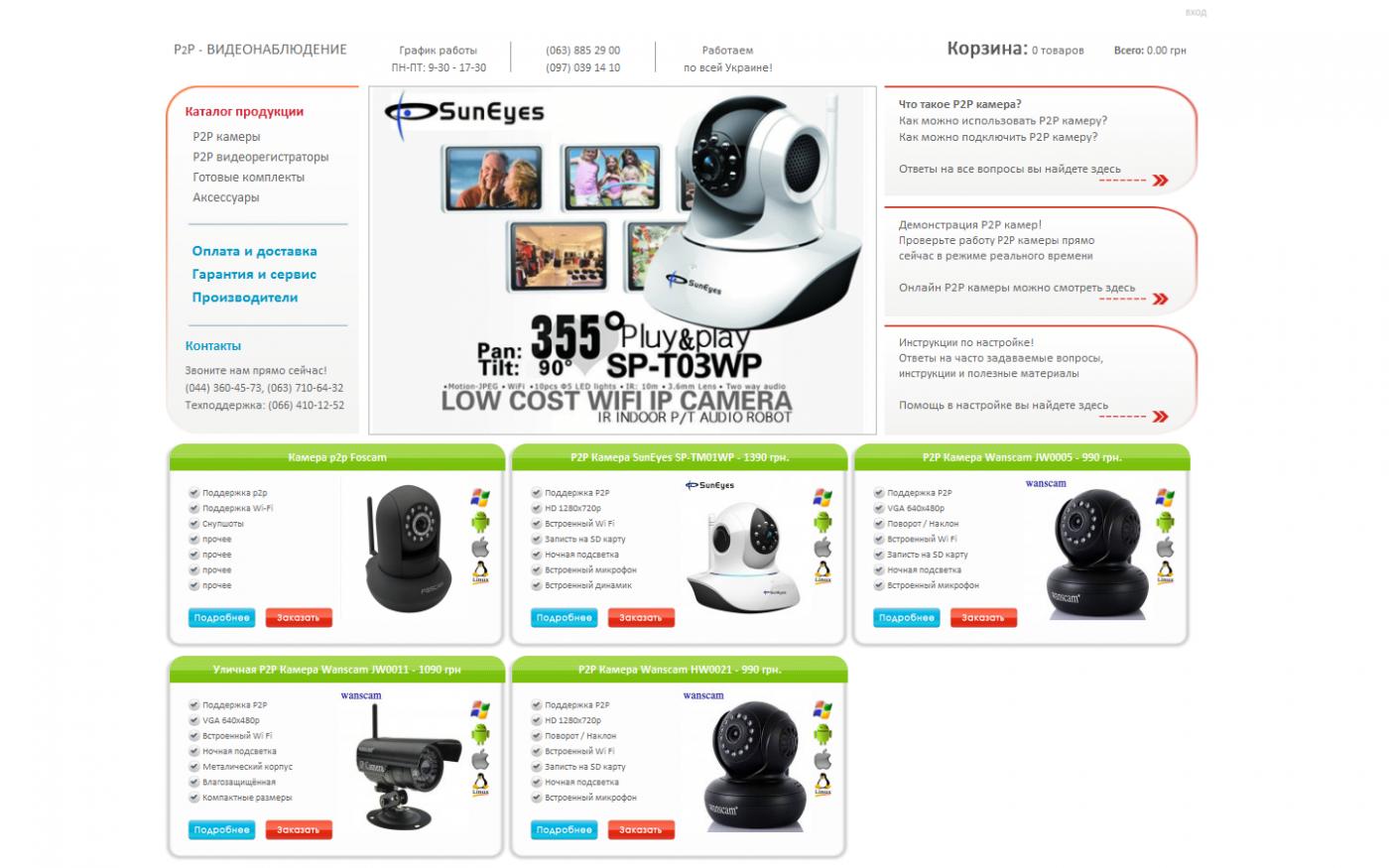 Как работает p2p видеонаблюдение, камеры, настройка, сервисы