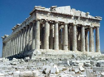 Парфенон -великолепный храм в афинах