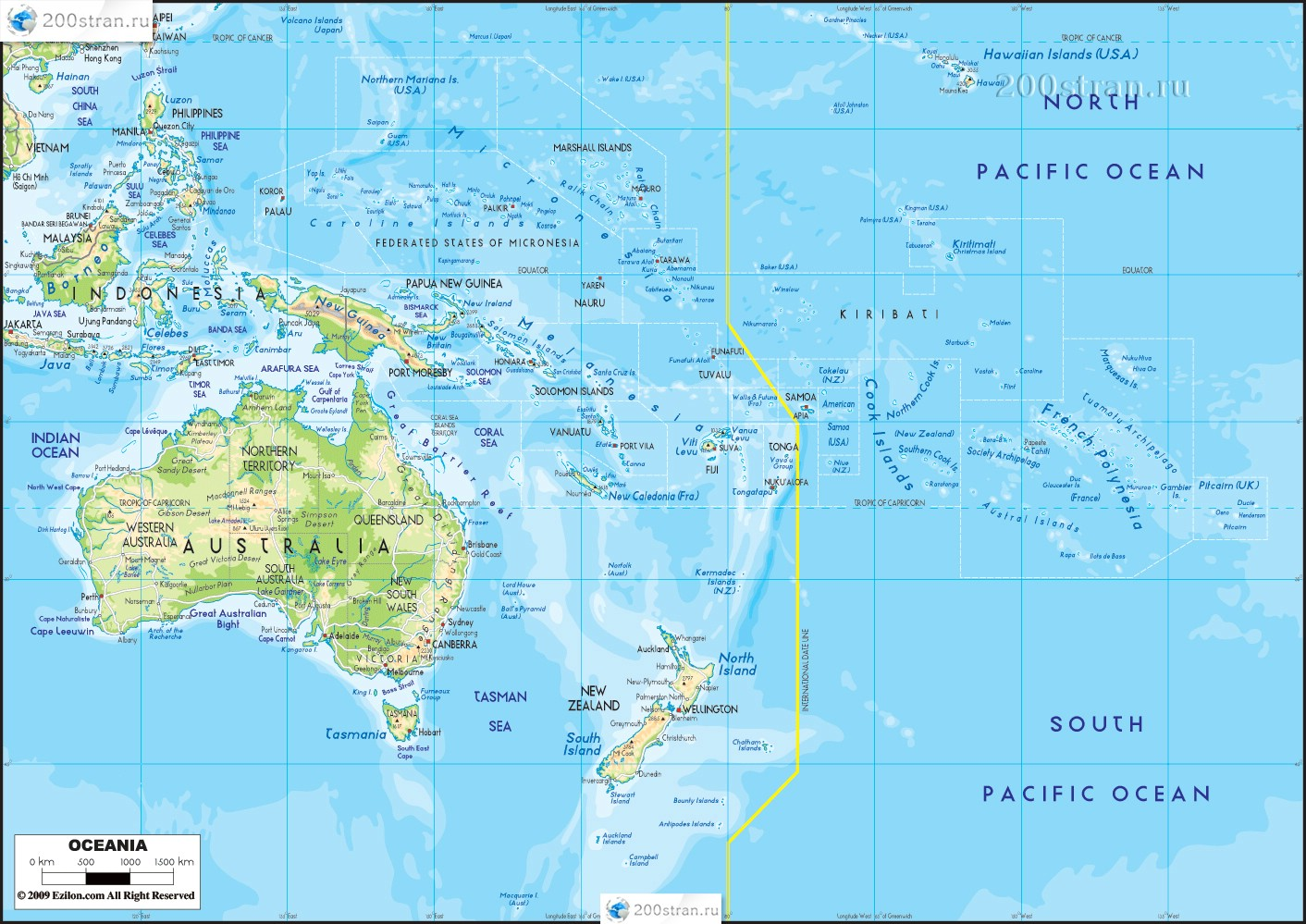 Регион океания. страны океании, география, природа -