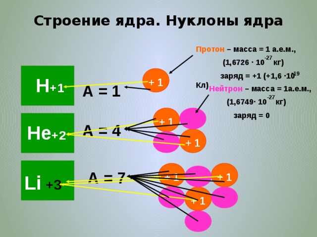 """Что такое нуклоны и что из них можно """"построить"""""""