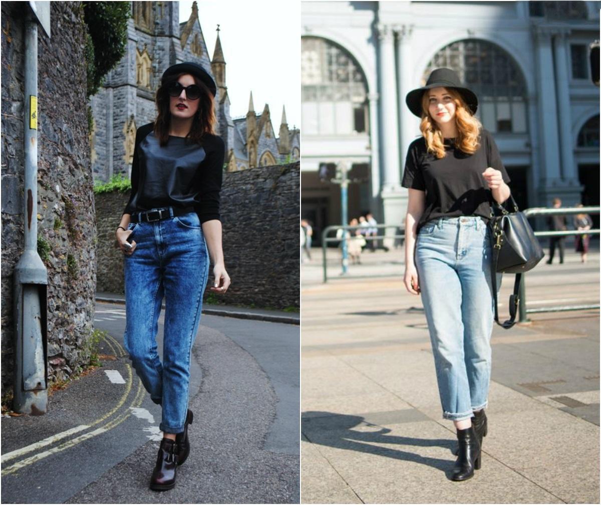 С чем носить джинсы мом – модные образы 2020