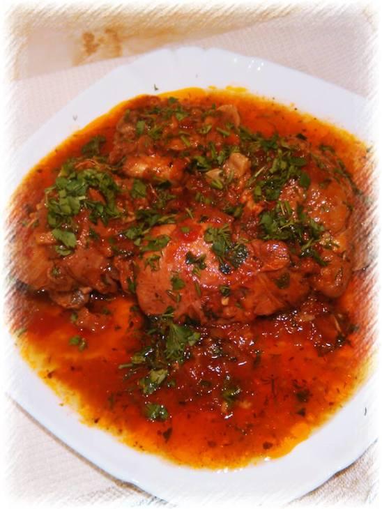 Чахохбили из курицы с помидорами – кулинарный рецепт