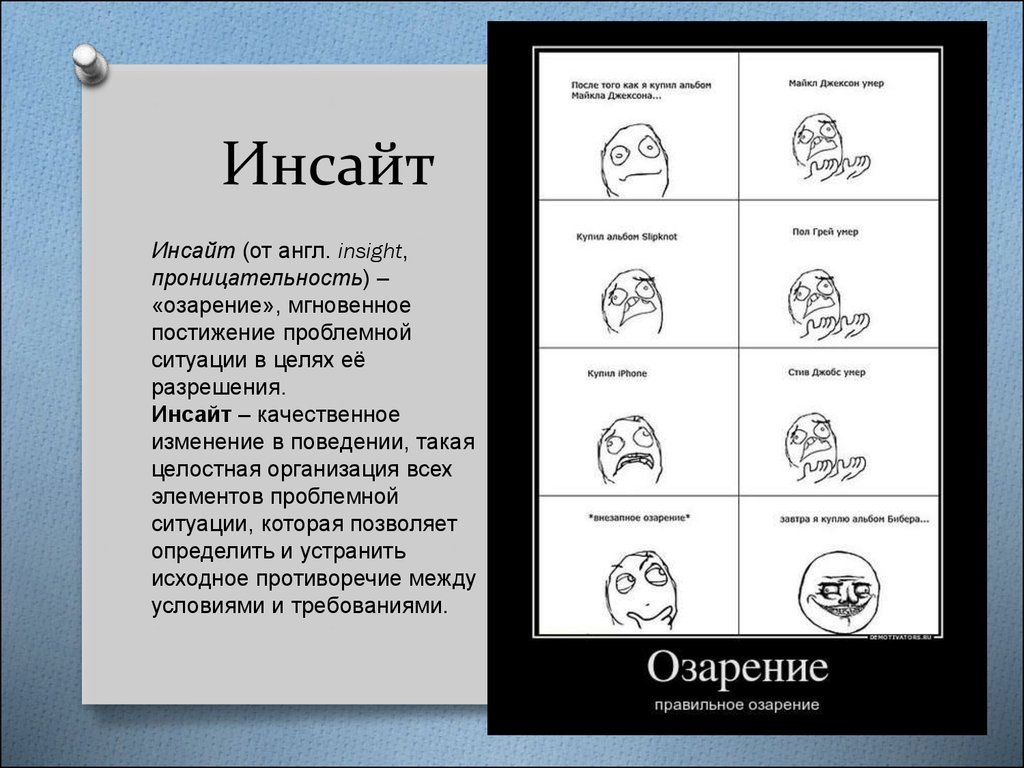 Инсайт — википедия с видео // wiki 2