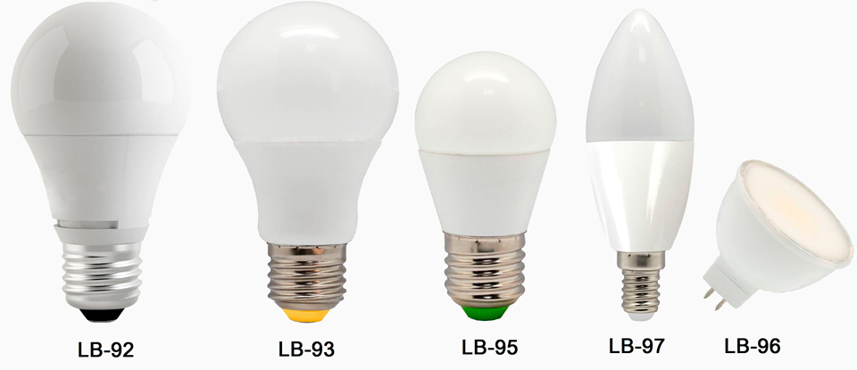Какие бывают виды лампочек и типы цоколей