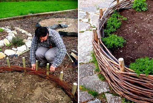 Как сделать плетень на даче своими руками - пошаговое руководство с фото и видео
