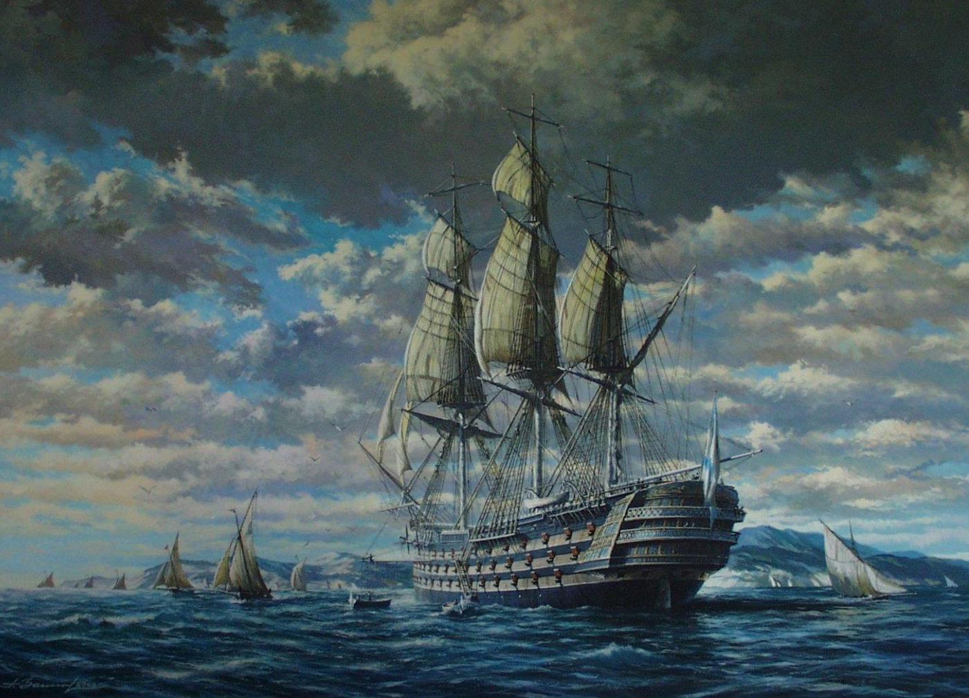 Линкор - броненосный линейный корабль, этапы создания, вооружение