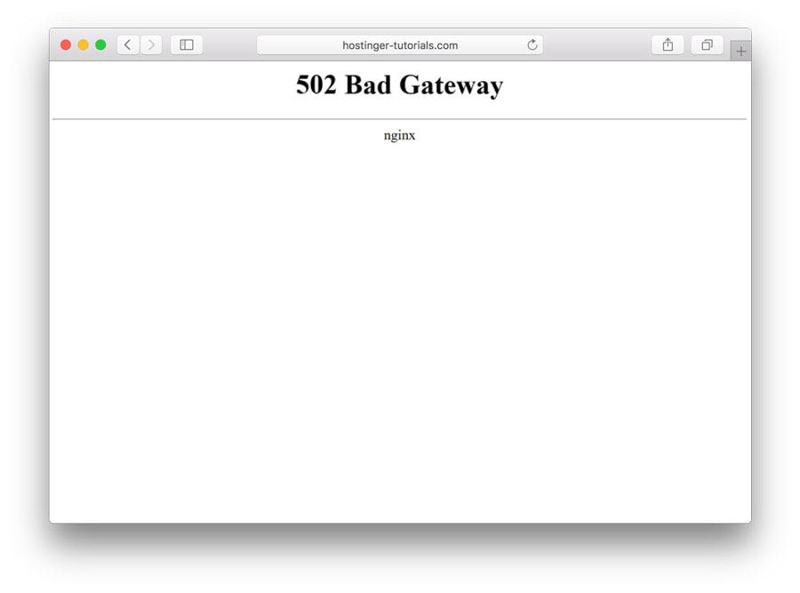 Как исправить 502 ошибку bad gateway в веб-серверах   вебмастеру