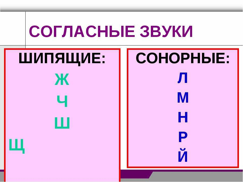 Что значит сонорный в фонетическом разборе. сонорные согласные - здоровая спина