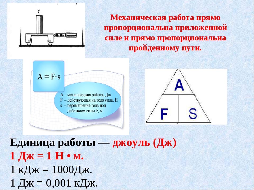 Работа, мощность, энергия - физика - теория, тесты, формулы и задачи - обучение физике, онлайн подготовка к цт и егэ.
