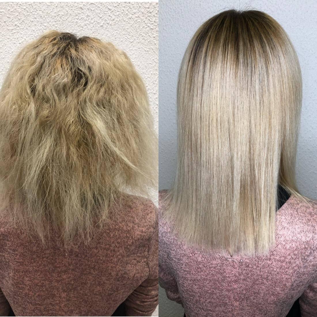 Нанопластика волос — восстановление и выпрямление
