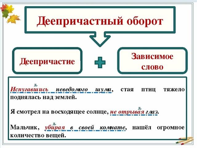 Правильное правописание: что такое причастие и деепричастие, правила с примерами