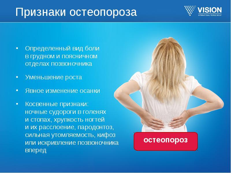 Остеопороз – причины, симптомы, принципы лечения