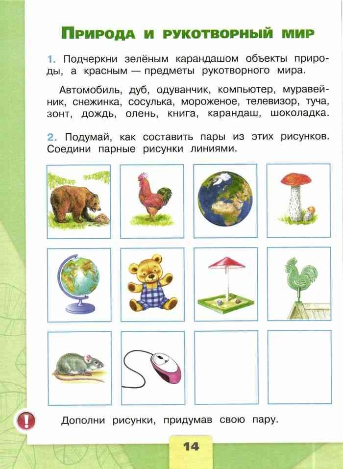 Урок 2 класс природа и рукотворный мир, тест, примеры, видео, таблица, рисунки. урок природа и рукотворный мир, кратко и доходчиво детям