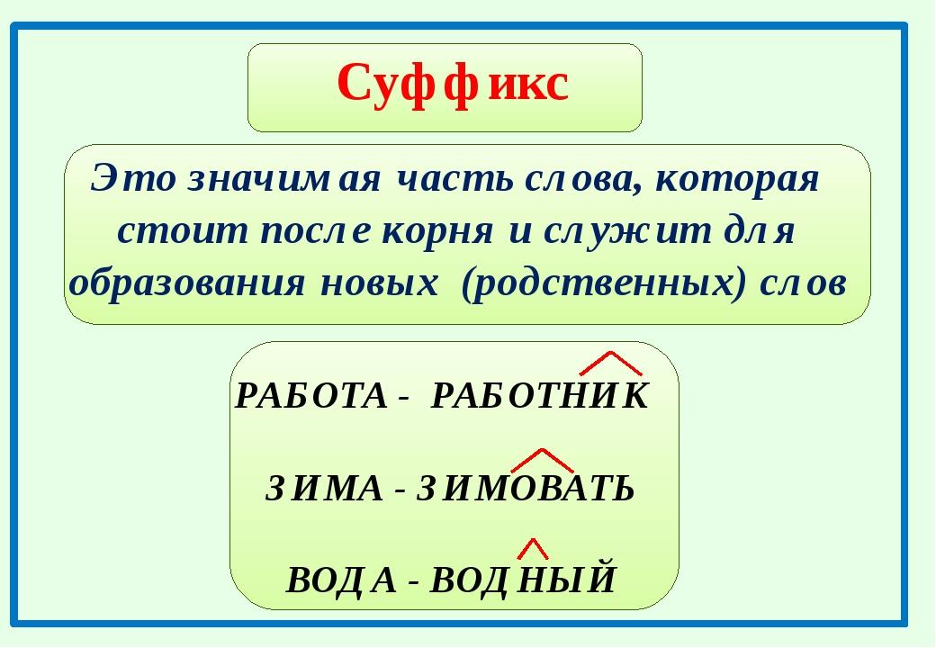 Суффиксы в русском языке в таблицах с правилами и примерами