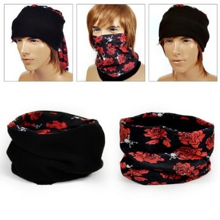 Как носить бафф девушке на голове бандану зимой