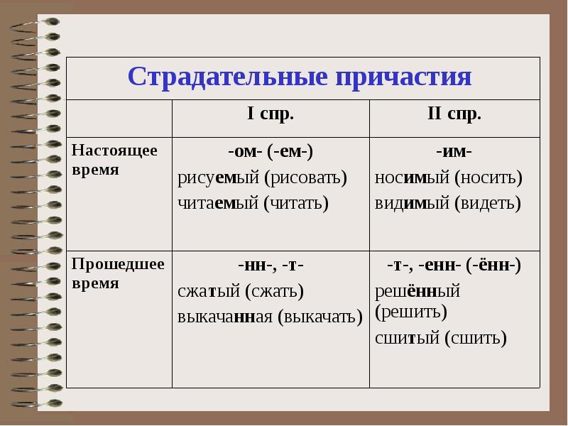 Причастие и причастный оборот в русском языке