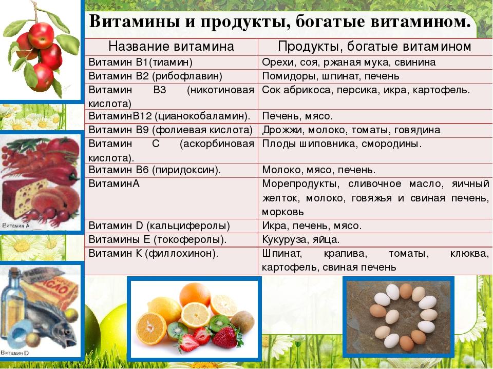Витамин к: в каких продуктах содержится, для чего он нужен, к чему приводит недостаток