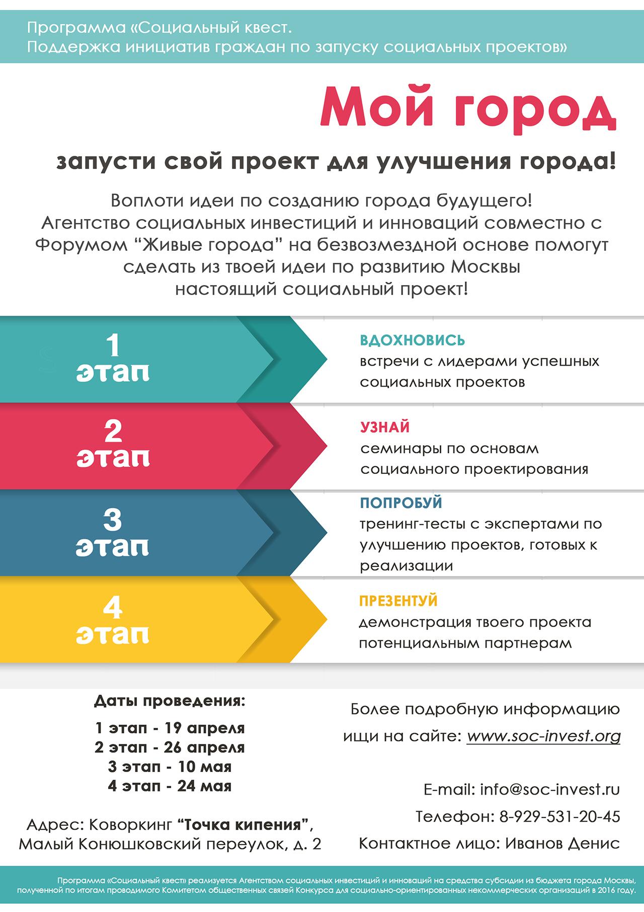 Идеи социальных проектов