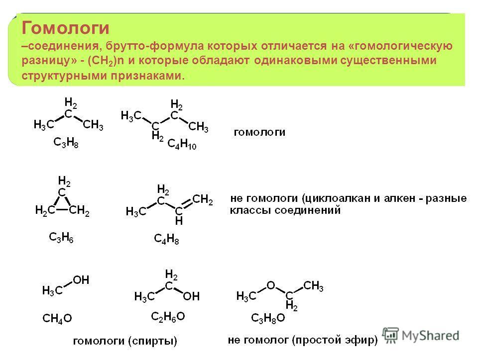 Гомологический ряд химических соединений