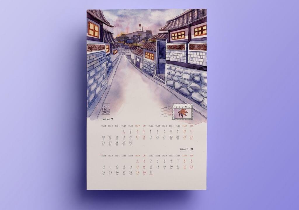 Онлайн календарь на 2020 год