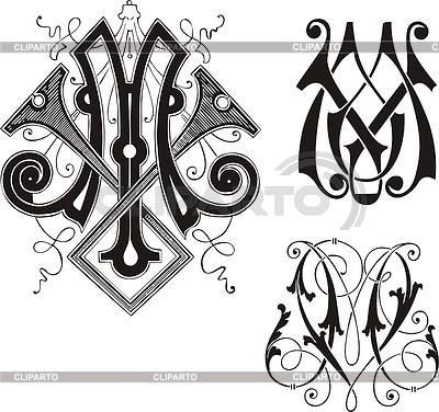 Вензель и монограмма в графическом дизайне