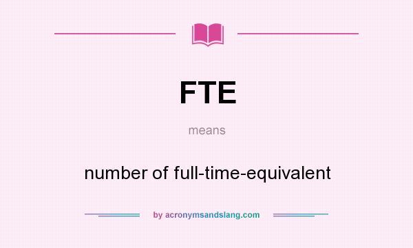 Что такое fte и как его рассчитать