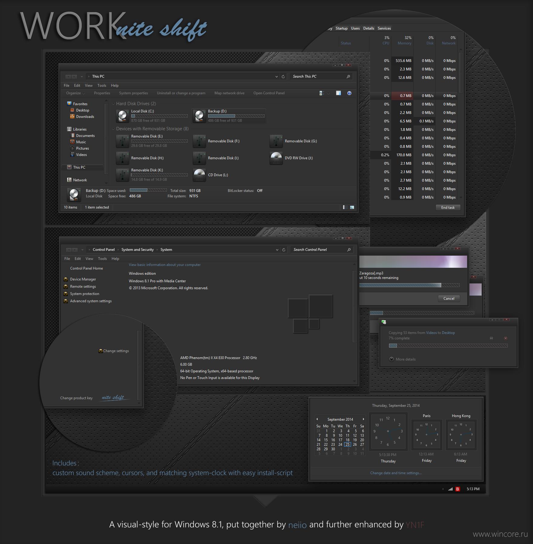 Выбор темы рабочего стола windows 7