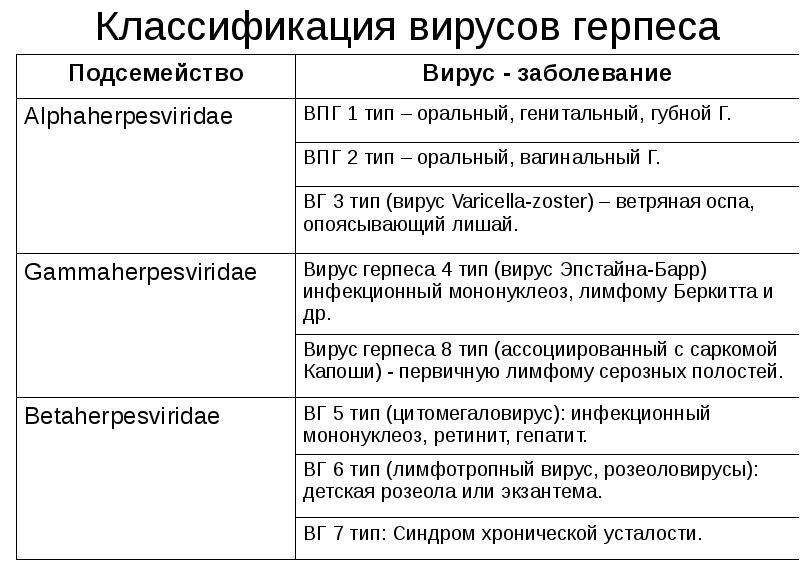 Особенности инфекционного заболевания герпес 4 типа