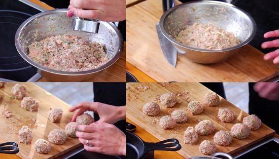 Митболы из куриного фарша – кулинарный рецепт