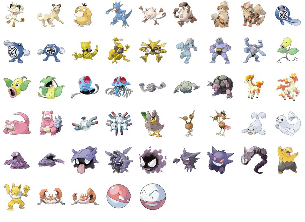 Эволюции стартовых покемонов | pokemon wiki | fandom