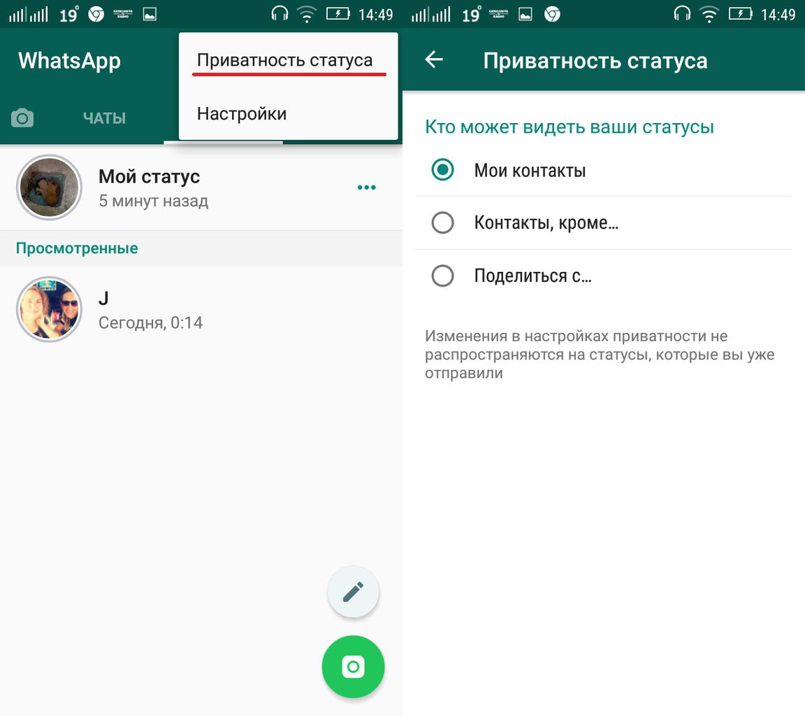 Что такое статус в whatsapp и для чего он нужен