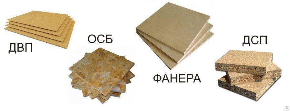 Дсп, двп, мдф - что это такое? в чем отличия материалов?