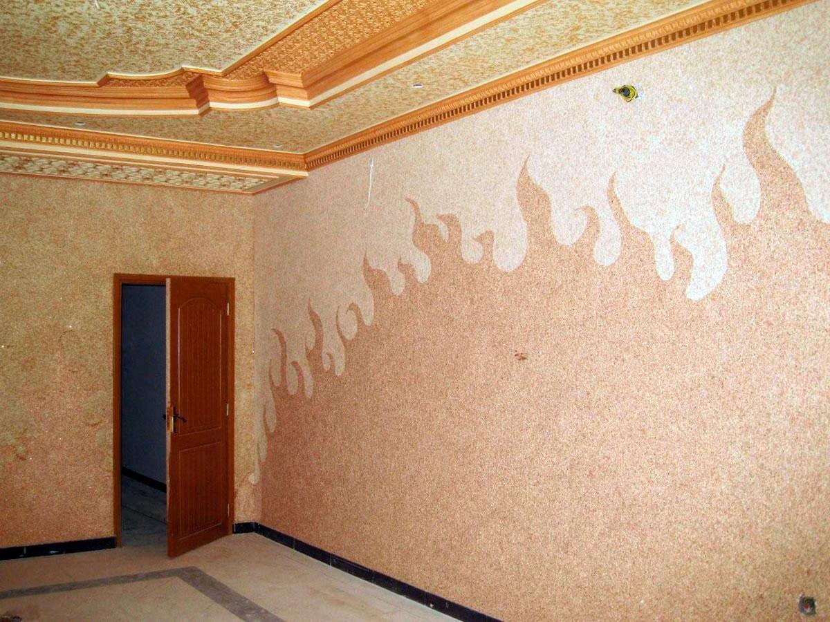 Как выбрать жидкие обои, плюсы и минусы, как наносить жидкие обои на стены и потолок