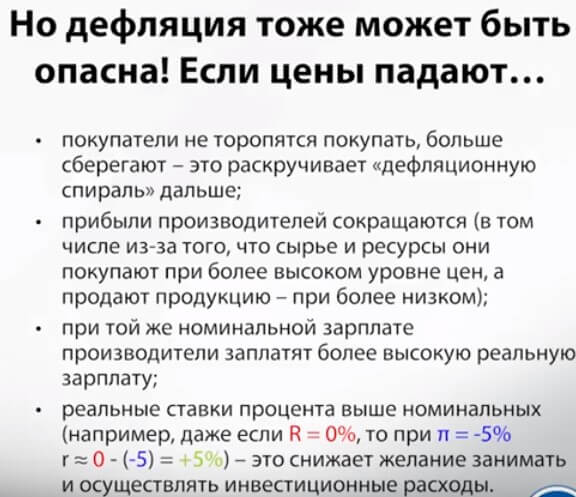 Чем опасна дефляция   банки.ру